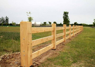 Lifestyle block post and rail fencing, Canterbury