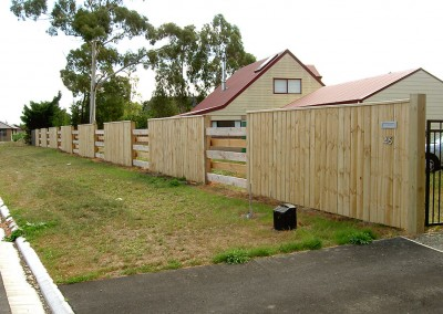 Residential fencing, Rolleston, Selwyn