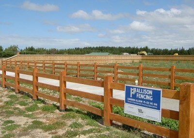 Residential post and rail fencing, Rolleston, Selwyn, Canterbury