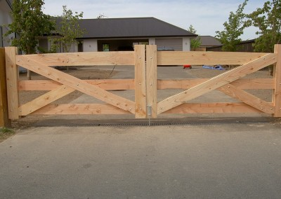 Residential wooden gate fencing, Christchurch and Selwyn, Canterbury