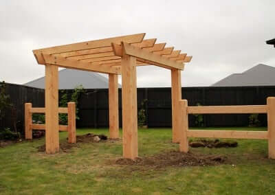 Residential pergola fencing, Christchurch and Selwyn, Canterbury