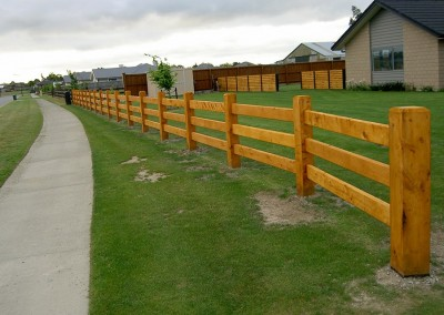 Residential post and rail fencing, Christchurch and Selwyn, Canterbury
